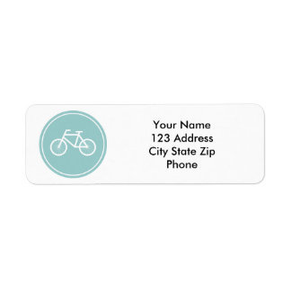 Bicycle return address labels for bike riding fans