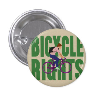 Bicycle Rights in Green 1 Inch Round Button
