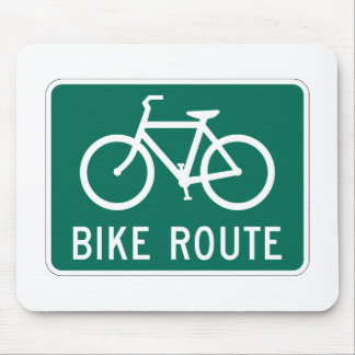 Bicycle Route Mousepad