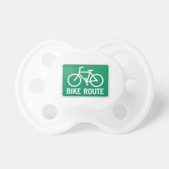 Bicycle Route Sign Pacifiers