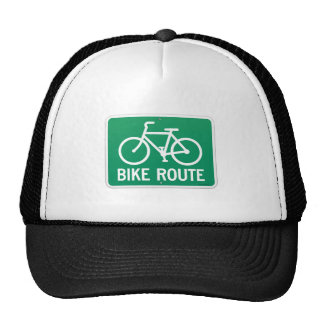 Bicycle Route Sign Trucker Hat