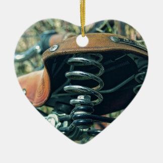 Bicycle Saddle Ceramic Ornament