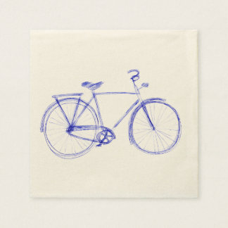 Bicycle scribble paper napkin
