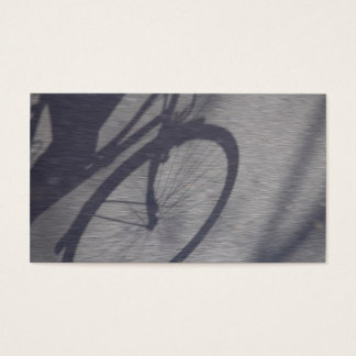 Bicycle shadow business card