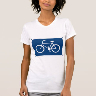 Bicycle Sign Womens T-Shirt