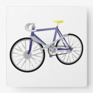 Bicycle Square Wall Clock