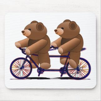 Bicycle Tandem, Teddy Bear Print Mouse Pad