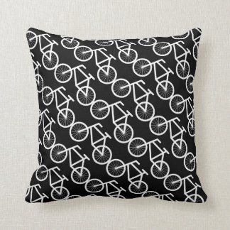 Bicycle throw pillow for bike riding lovers