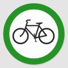 Bicycle Traffic Highway Sign Classic Round Sticker