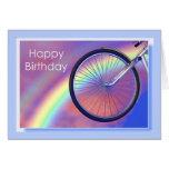 Bicycle Wheel Birthday Greeting Card