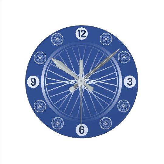 Bicycle wheels blue wallclocks