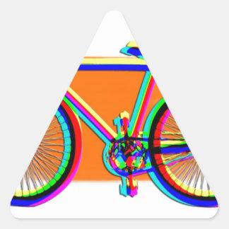 Bicycle Wheels Sport Family Friend Destiny Rainbow Triangle Sticker