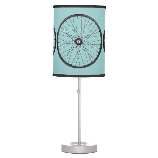 bicycle wheels table lamp