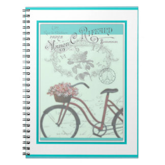 Bicycle with flowers notebook