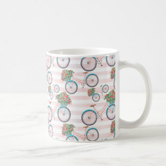 Bicycle with Flowers Painting Coffee Mug