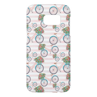 Bicycle with Flowers Painting Samsung Galaxy S7 Case
