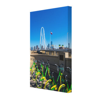 Bicycles And Dallas Canvas Print