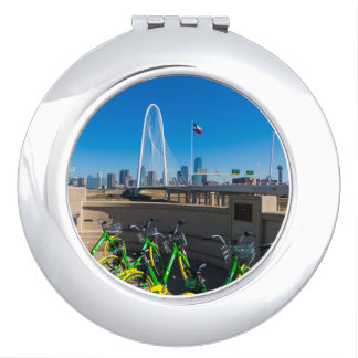 Bicycles And Dallas Compact Mirror