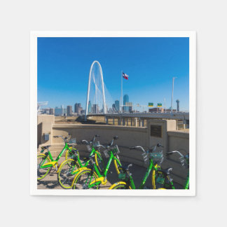Bicycles And Dallas Paper Napkin