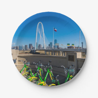 Bicycles And Dallas Paper Plate
