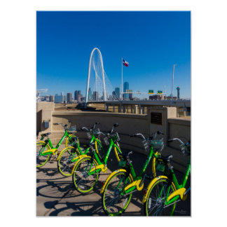 Bicycles And Dallas Poster
