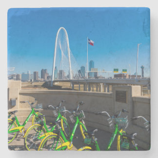 Bicycles And Dallas Stone Coaster