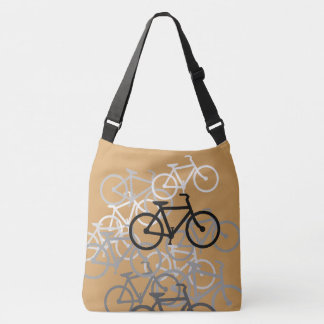 Bicycles Design...choose your color background Crossbody Bag