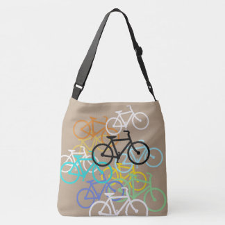 Bicycles Design with your background. Crossbody Bag