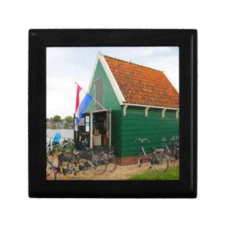 Bicycles, Dutch windmill village, Holland Gift Box