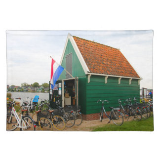 Bicycles, Dutch windmill village, Holland Placemat