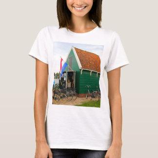 Bicycles, Dutch windmill village, Holland T-Shirt