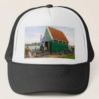 Bicycles, Dutch windmill village, Holland Trucker Hat