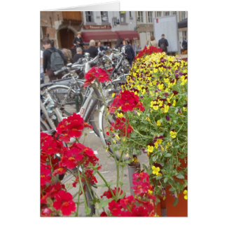 Bicycles, Historic City Center of Bruges, Belgium Card
