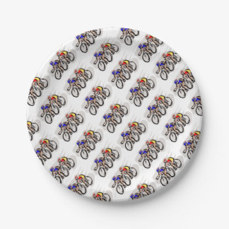 Bicycles Paper Plate