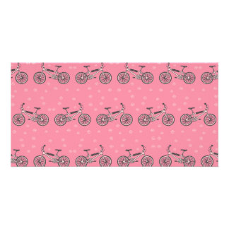 Bicycles pattern personalized photo card