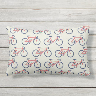 Bicycles Pattern throw pillows