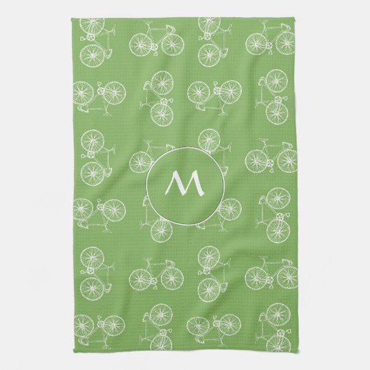 Bicycles seamless pattern towels
