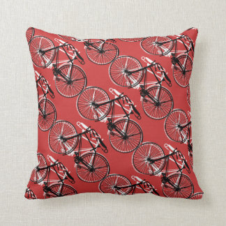 Bicycles/You choose background color Throw Pillow