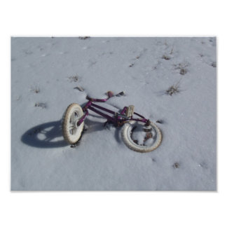 Bicyclette abandonnée  tirage photo