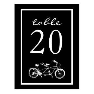 Bicyclette construite pour deux nombres de Tableau Carte Postale