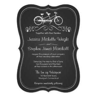 Bicyclette de tableau pour deux invitations les