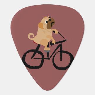 Bicyclette drôle d'équitation de chiot de carlin onglet de guitare