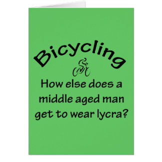 Bicycling Card