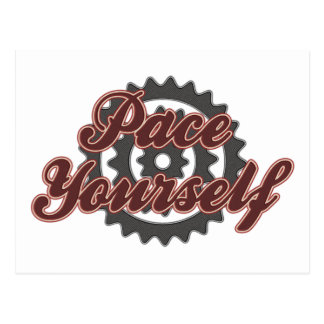Bicycling Cycling Pace Yourself Postcard