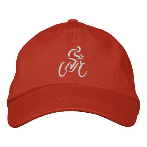 Bicycling Embroidered Baseball Cap