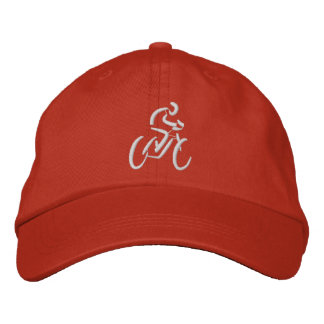 Bicycling Embroidered Hat