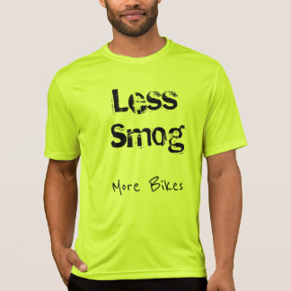 Bicycling - Less traffic, Less smog T-Shirt