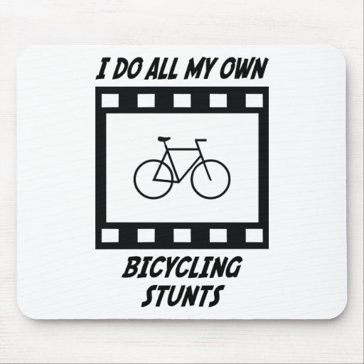 Bicycling Stunts Mouse Mats