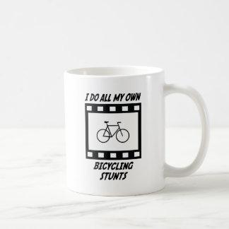 Bicycling Stunts Coffee Mugs