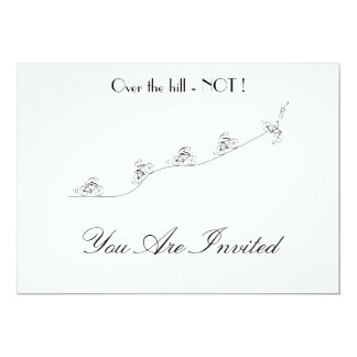 Bicyclist going over the hill customized Invite